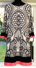 Eliza J Shift Dress Size 12 Black White Pink Career Evening