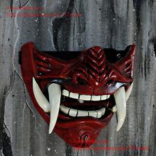 New listing Samurai Oni Airsoft Mask Paintball Bb Gun Japanese Half Mempo Helmet Armor Da500