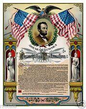 President Abraham Lincoln EMANCIPATION PROCLAMATION Fine Art Print / Poster