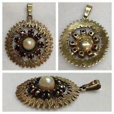 Ciondolo con granato e perla 333 Orologio da polso uomo Oro in Garnet
