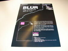BLUR NO DISTANCE LEFT TO RUN!!!!!!RARE FRENCH PRESS/KIT