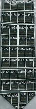 Periodic Table Chemistry Science Metal Gas Liquid Elements sleeved 100% Silk Tie