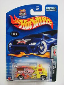 Hot Wheels 2003 Final Run 2/12 Ambulancia #196 Amarillo