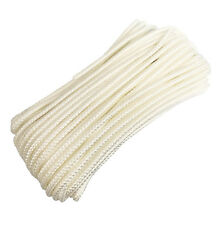 "NYLON BRAIDED ROPE CORD STRING 3/16"" x 50 Feet WHITE"