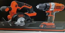 BLACK AND DECKER 20 VOLT LITHIUM 2 TOOL COMBO