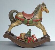 Large Childrens Rocking Horse with Gifts Christmas Ornament Figurine 32cm Tall