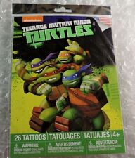 Teenage Mutant Ninja Turtles, 26 Temporary Tattoos Made in USA *Ages 4+ TMNT