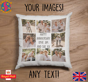 Personalised Photo Pillowcase Cushion Pillow Case Cover Custom Gift up to 9 pics
