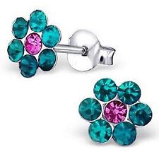 Studex Sensitive Coloured Daisy Crystal Stone Stainless Steel Stud Earrings