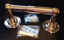 New Toilet Tissue Paper Holder Mounted Chrome Brass Finish + Hardware Diy Sealed