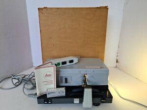 Leitz Pradovit RC Slide projector with remote, spare bulb, Original box