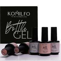 Komilfo BOTTLE GEL BASE For thin and weakened nail plate - Gel Nail System 15ml.
