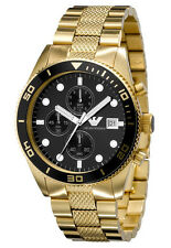 Emporio Armani Gold/Black Quartz Men's Chronograph Watch AR5857