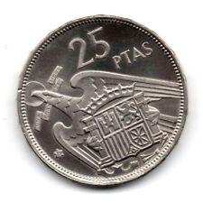 ESPAÑA: 25 Pesetas FRANCO 1957 estrella 73 Proof ( año 1973)