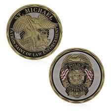 St Saint Michael Police Officer Badge Patron Commemorative Challenge Coin Art