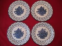 "Stonehenge Midwinter Country Blue Basket 10 ½"" Dinner Plates in Excellent Cond"
