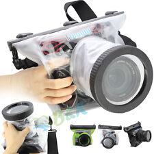 DSLR SLR Canon Nikon Camera Waterproof 20M Underwater Housing Case Bag Lens 10CM