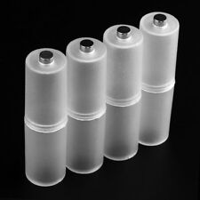 4x AAA To AA Size Battery Converter Adaptor Case Holder Switcher Convenient Cell