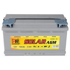 HR AGM Solarbatterie 12V 100Ah Wohnmobil Versorgung Solar Boot Batterie 90Ah GEL