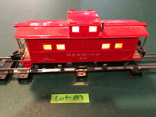 American Flyer Lines S Train 630 Red w/Black Base Lighted Caboose w/Knuckle LotM