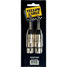 2 adaptateurs Jack 6.35 Mâle stéréo/XLR Femelle Yellow Câble AD26
