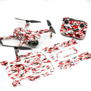 Red Camo Drone Skin Wrap Stickers Decal for DJI Mavic Air 2