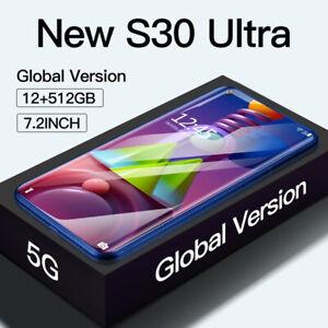 Cellulare Smartphone S30 Ultra 2021 Schermo 7,2 pollici 5G 12GB RAM + 512GB ROM