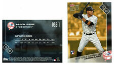 AARON JUDGE 2017 AL ROOKIE OF THE YEAR NY YANKEES ROY TOPPS NOW BONUS CARD OSB-1