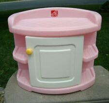 "Step 2 Table Changing Baby Storage Pink 19"" tall RARE Heavy Plastic White Door"
