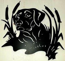 Hunters  gift New Metal Dog Black Lab Decor sign indoor outdoor 15 X 15