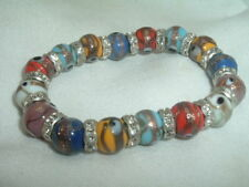 Vintage Venetian Murano Art Glass Stretch Bracelet Made in Italy in Gift Box