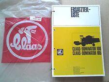 CLAAS  Dominator 80 Dominator 100 Ersatzteilliste Mähdrescher 1975  NEU