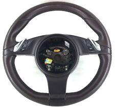 Genuine OEM Porsche Panamera, Cayenne red leather steering wheel 7PP419091.   2B