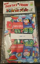 Vintage Santas Train 7 pc Mantelpiece - Centerpiece Card Holder New In Package
