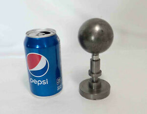 Solid Brass Round Ball Moon Flag Topper ~ Super Heavy!