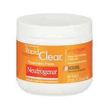 Neutrogena Rapid Clear Daily Treatment Pads Acne Treatment,60 pads