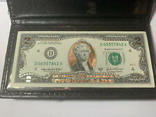 BANKNOTE 2 DOLLAR 2003  24K GOLD PLATED REAL NOTE