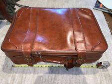 "Vintage Leather Suitcase "" VINTAGE BRAND"" Light Use Leather Suitcase"