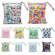 Large Double Zip Waterproof Baby Wet Bag Nappy Bag For Cloth Nappies 30cm x 36cm