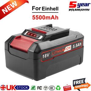 For Einhell Power X Change 5.5Ah 18V Lithium Battery 4512097 4512042 PXC PX-BAT4