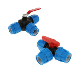 32/40mm Push Fittings with Valve Tube Tee Union Coupler Irrigation Fittings