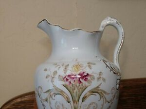 Vintage Water Pitcher made by Warwick, is semi-porcelain