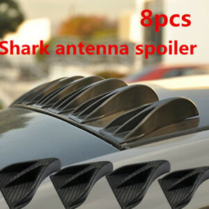 8pcs Carbon Fiber Surface Vortex Generator Tail Lines Spoiler for Car Auto Roof