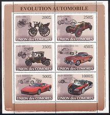 Comoro Islands - 2008 s/s of 6 Automobiles #1005 cv $ 15.50 Lot # 13