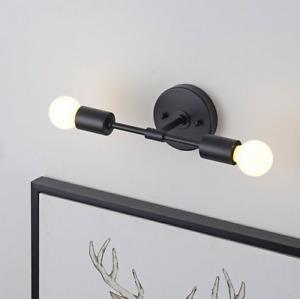 2 Light Black Wall Sconce Modern Minimalist Bathroom Vanity & Hallway Lighting