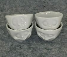 TASSEN Small Porcelain Bowls 3.3 oz Set #1 & 2 : Set of 4 : Happy Oh Please Kiss
