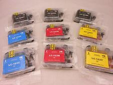 LC103 BLK C M Y Ink Cartridge for Brother MFC-J4710DW MFCJ875DW MFC-J650DW 9PK