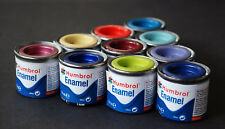 (gp: € 12,79/100 ml) Humbrol enamel paints 168 kunstharzfarb. para escoger 14 ml