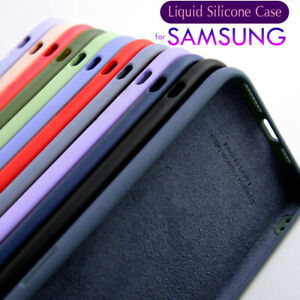 For Samsung S21 S20 Ultra S10 S9 A12 A52 A71 A51 Liquid Silicone Soft Case Cover