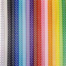 10mm Polka Dot Grosgrain Ribbon Full 100yd Rolls - Many Colours - 3 White Spots